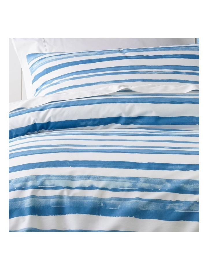 Austin Stripe Quilt Cover Set in Blue image 2