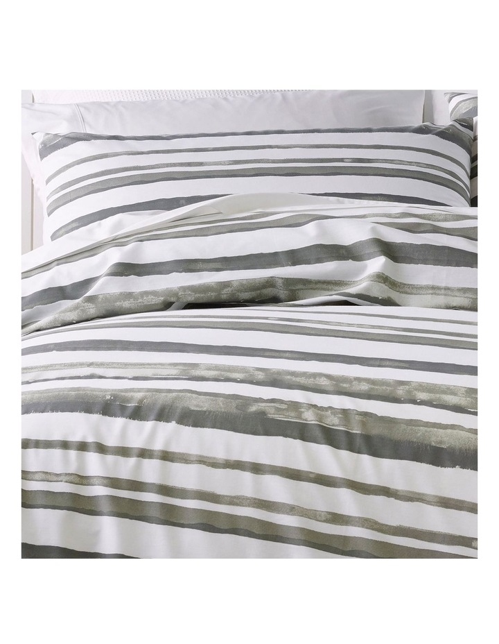 225T Austin Stripe Quilt Cover Set in Smoked Pearl image 2