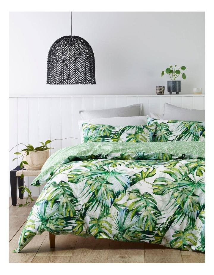 Trinidad Cotton Quiilt Cover Set in White image 1