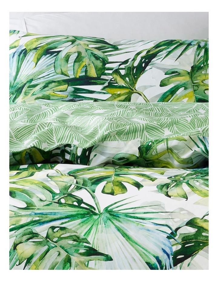 Trinidad Cotton Quiilt Cover Set in White image 2