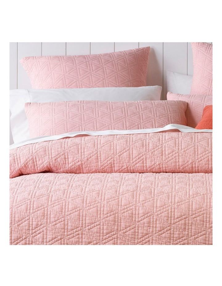 Mauritius Quilted Quilt Cover Set in Pink image 2