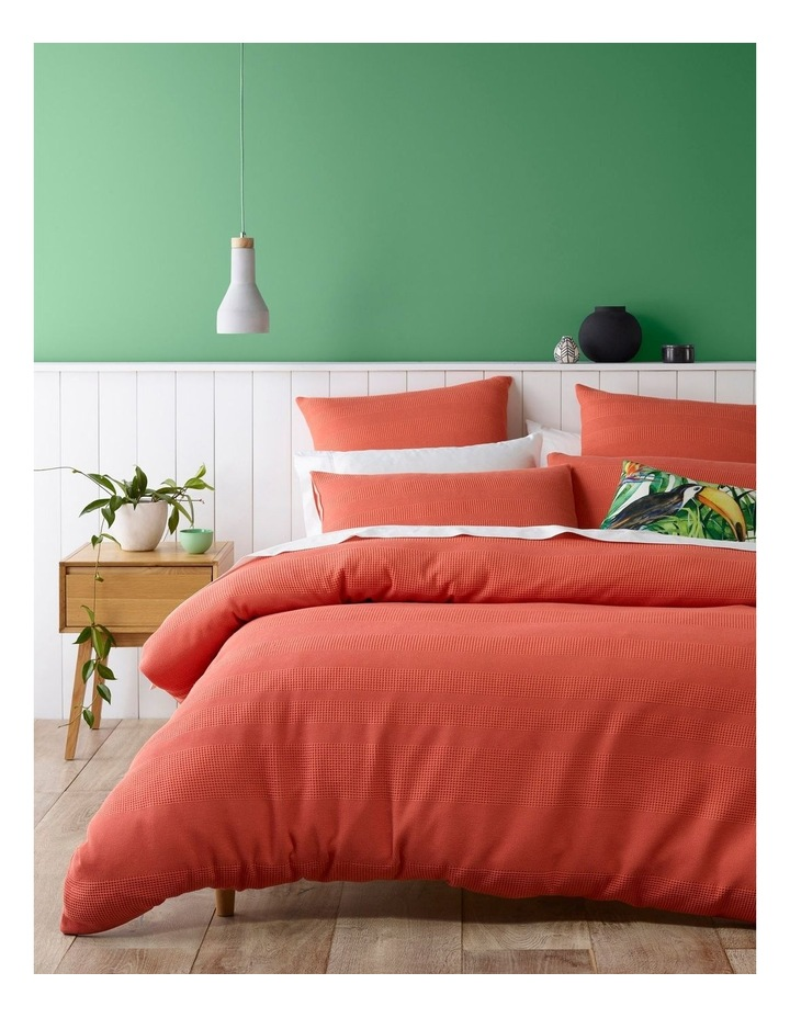 Baltimore Cotton Quilt Cover Set in Coral image 1