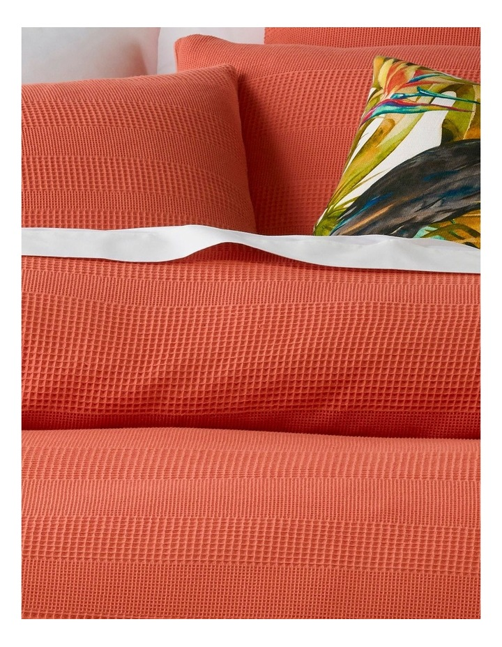 Baltimore Cotton Quilt Cover Set in Coral image 2