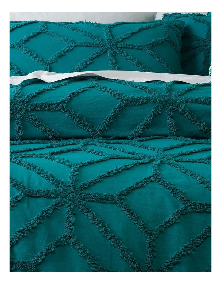Antigua Cotton Quilt Cover Set in Everglade image 2