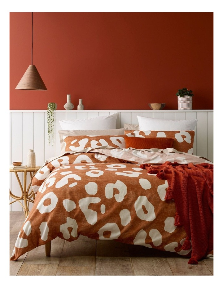 Zaire Leopard Print Quilt Cover Set in Clay image 1