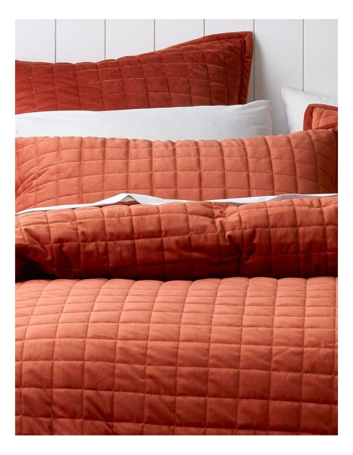 Tanami Quilted Quilt Cover Set in Burnt Brick image 2