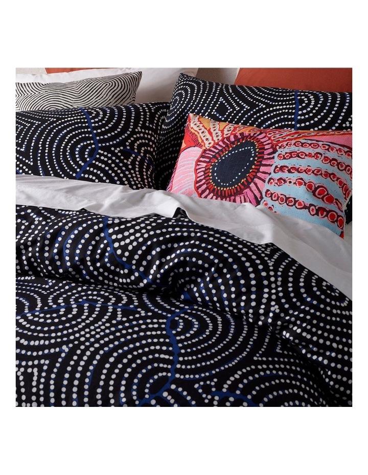 Patrick Japangardi Williams - Mina Mina Jukurrpa (Mina Mina Dreaming) Navy Satin Quilt Cover Set image 3