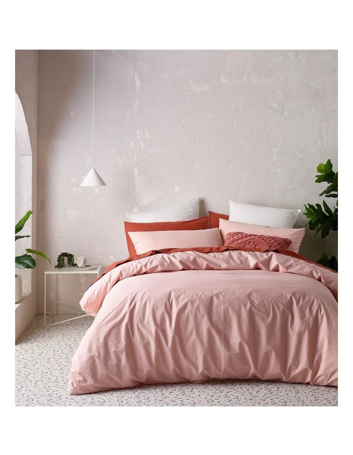 Organic Stonewashed 250TC Cotton Quilt Cover Set in Pink image 1