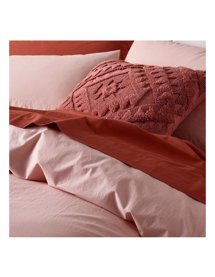 Organic Stonewashed 250TC Cotton Quilt Cover Set in Pink image 3