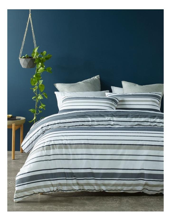 Jordan Cotton Percale Quilt Cover Set in Black/Grey image 1