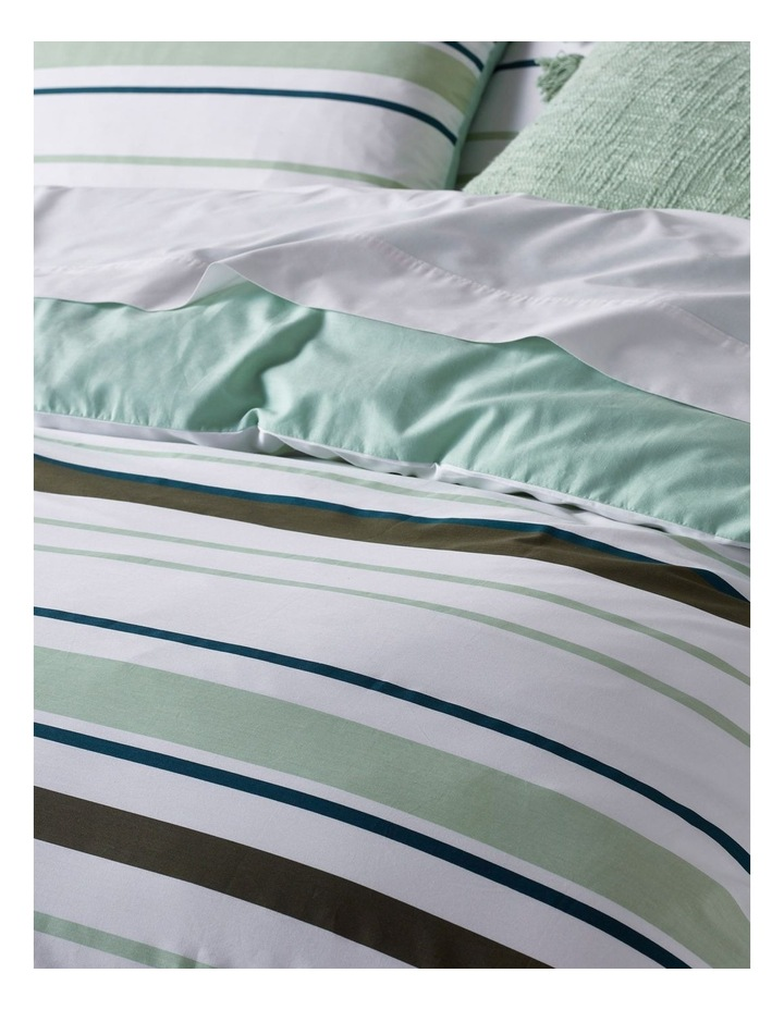 Jordan Cotton Percale Quilt Cover Set in Blue/Green image 2