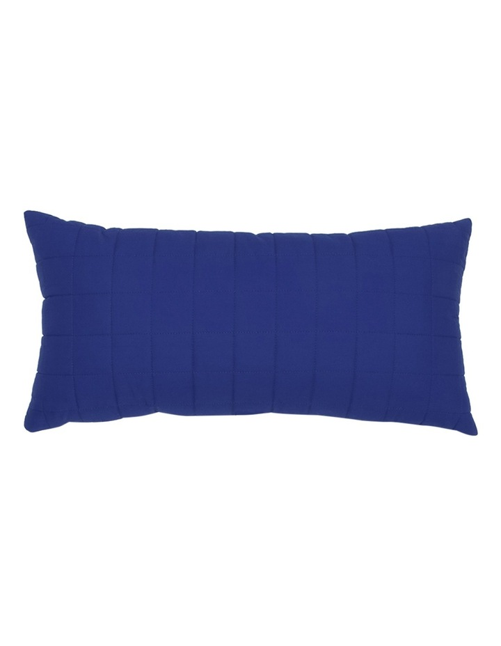 Vincent Quilted Cushion in Blue image 1
