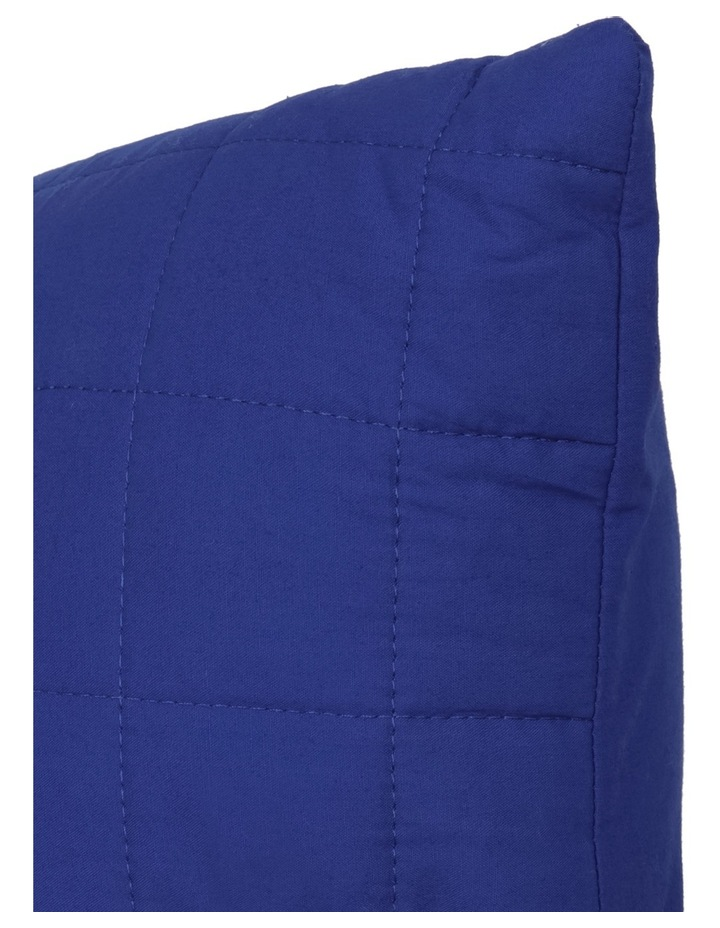 Vincent Quilted Cushion in Blue image 2