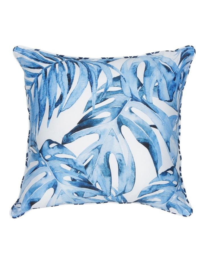 Coca Blue Leaf Cushion in Multi image 1