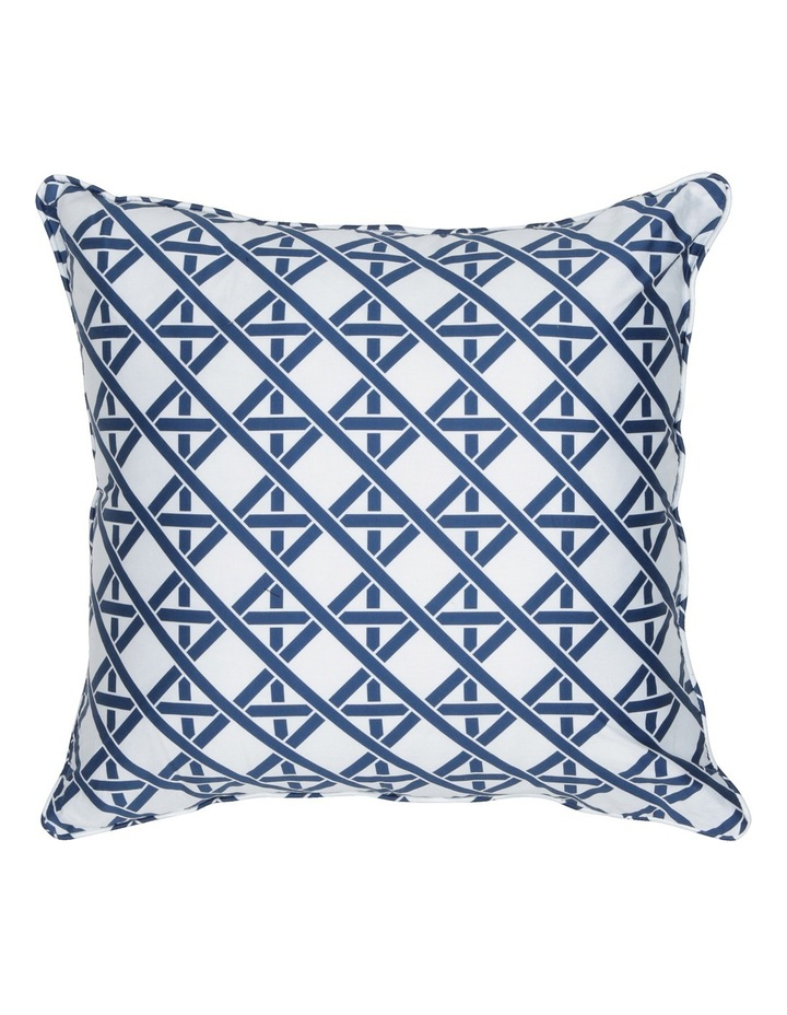 Coca Blue Leaf Cushion in Multi image 2