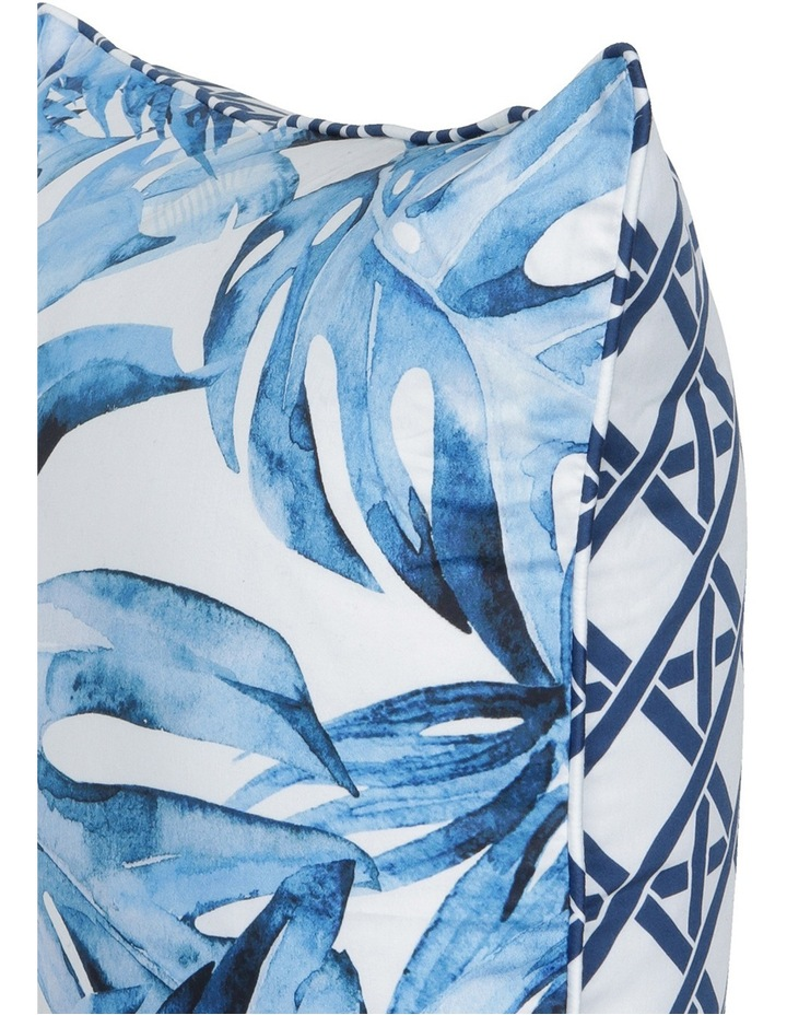 Coca Blue Leaf Cushion in Multi image 3