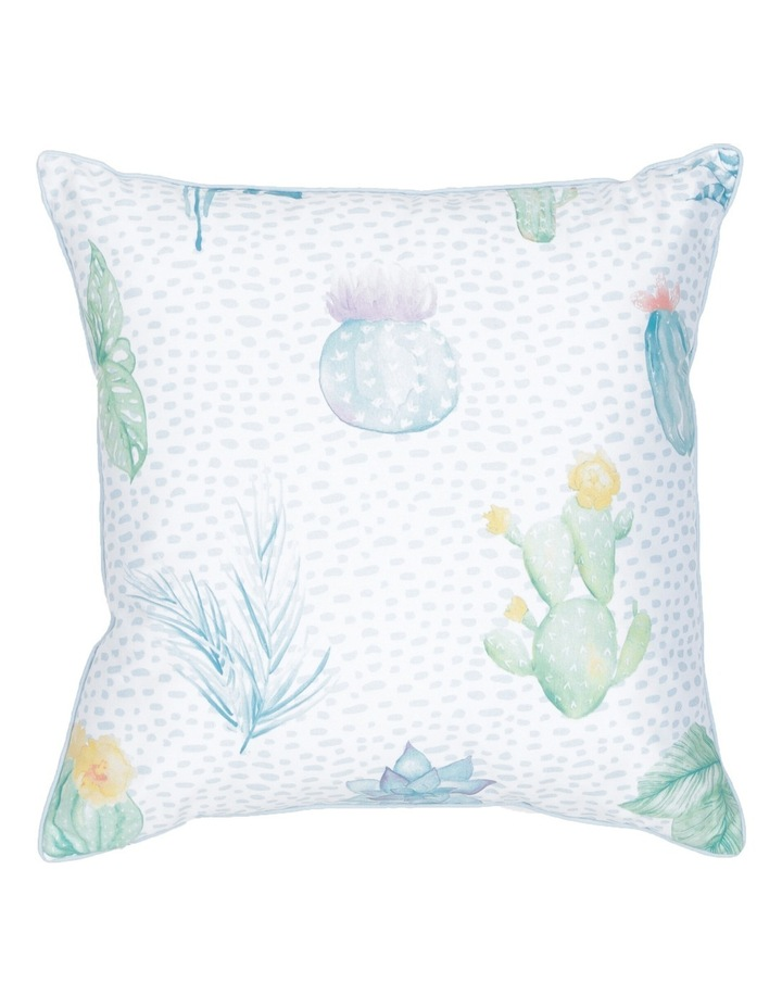 Agave Cactus Cotton Sateen Cushion in Multi image 1