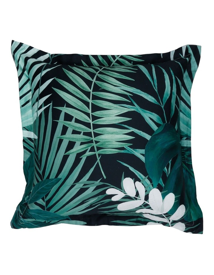 Maldives Cotton Sateen Cushion in Greens image 1