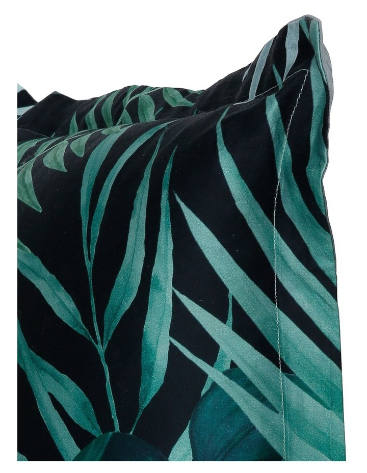 Maldives Cotton Sateen Cushion in Greens image 2