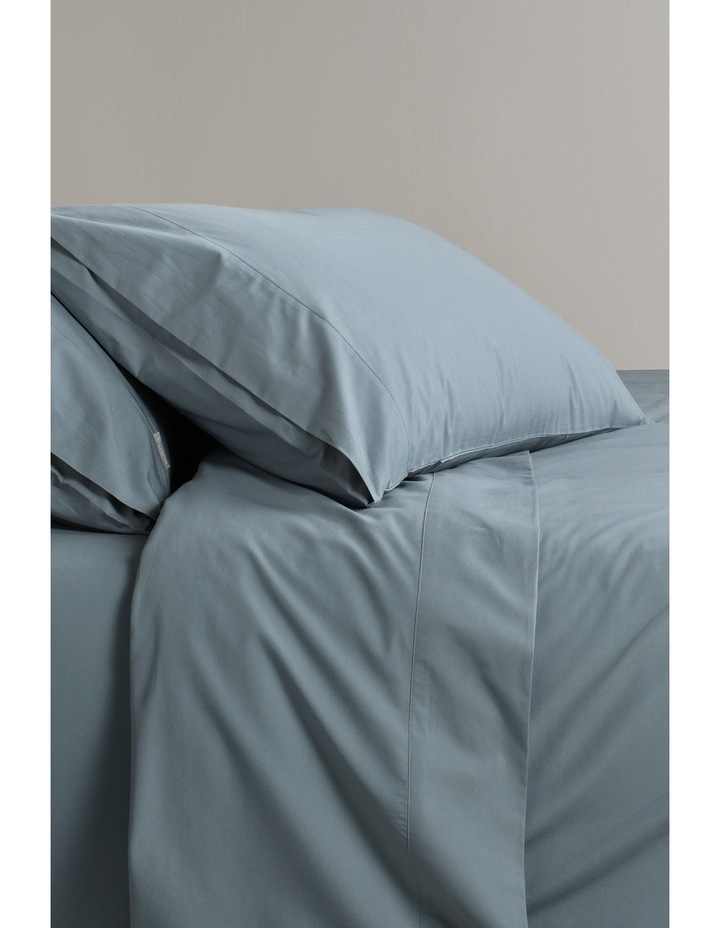 300TC Percale Sheet Set Range in Steel image 1