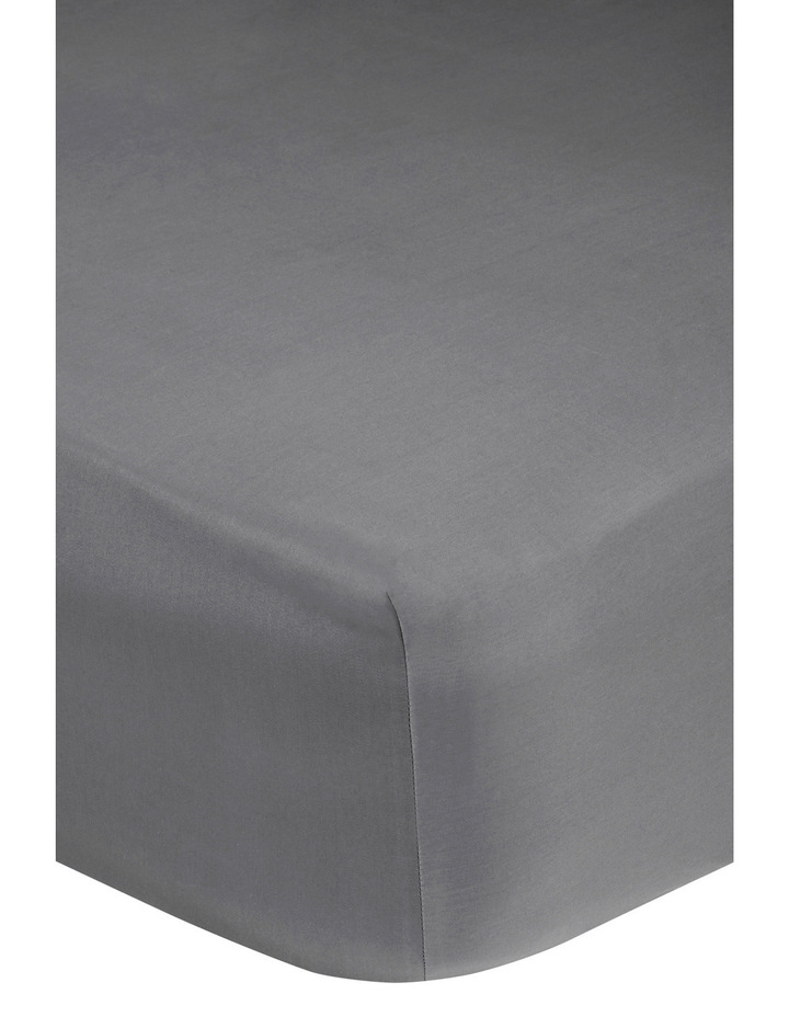 400 Thread Count Soft & Silky Egyptian Cotton Deep Fitted Sheet in Dark Grey image 2