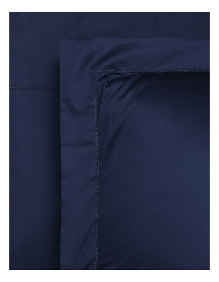 400TC Luxurious Egyptian Cotton Sateen Fitted Sheets in Navy image 1