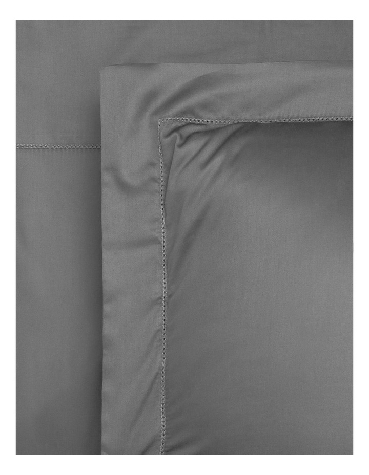 400TC Luxurious Egyptian Cotton Sateen Fitted Sheets in Grey image 1