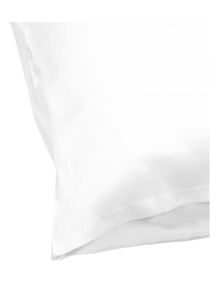 Silk Pillowcase in White image 3
