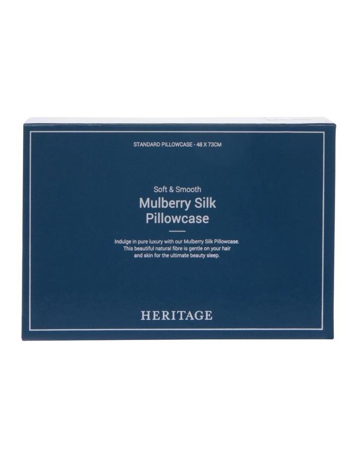 Silk Pillowcase in White image 5