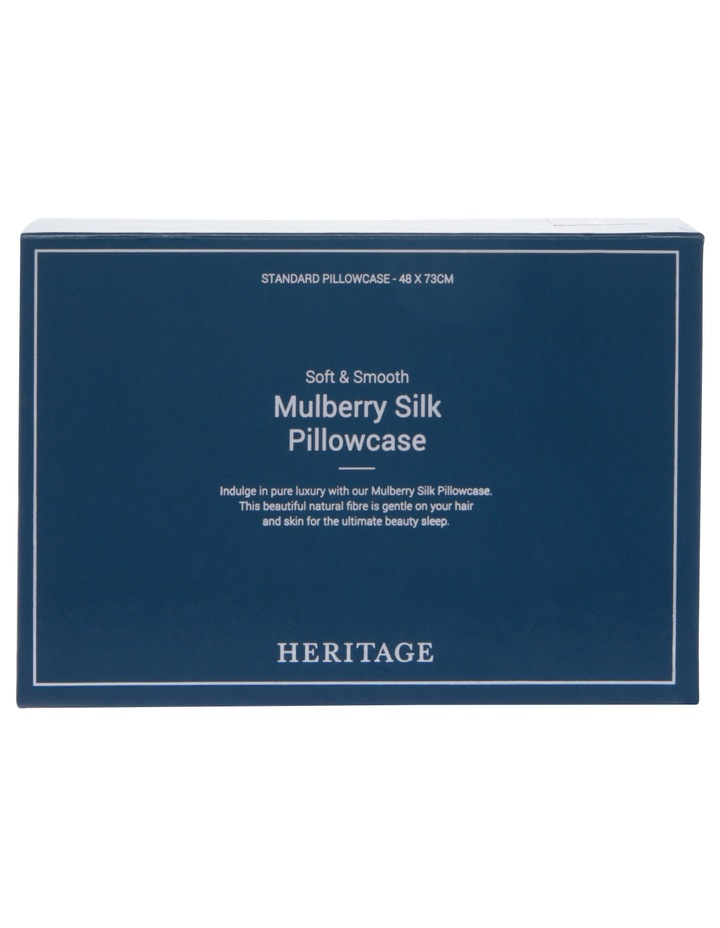 Silk Pillowcase in White image 6