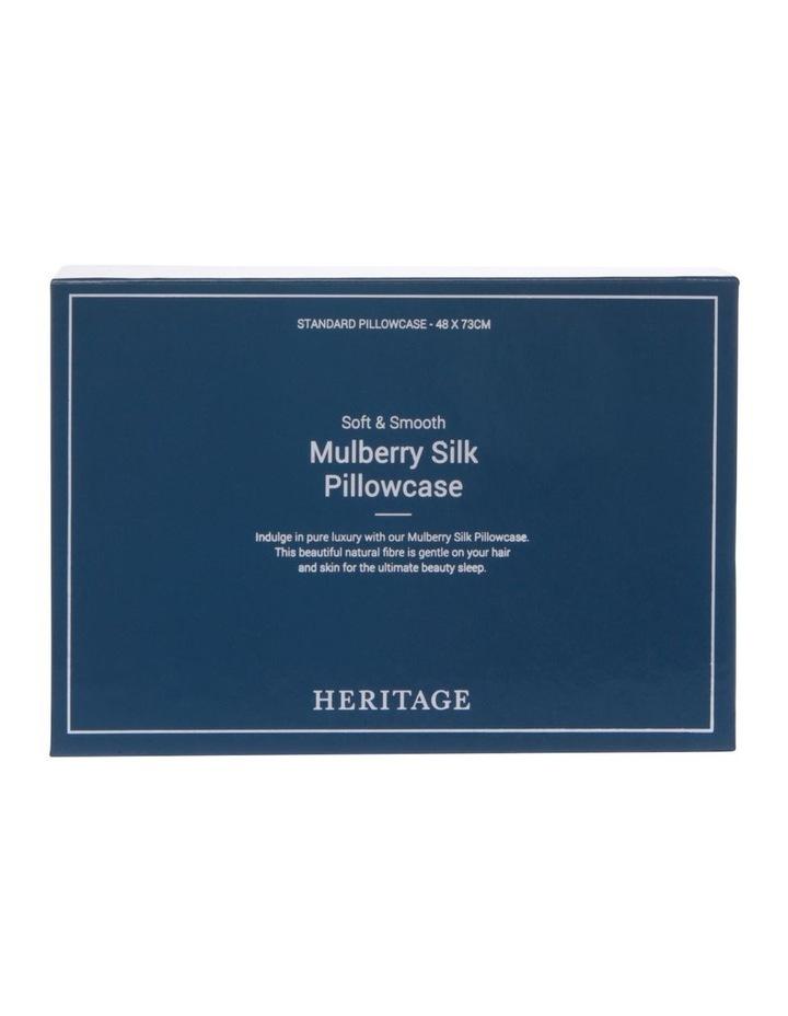 Silk Pillowcase in Silver image 5