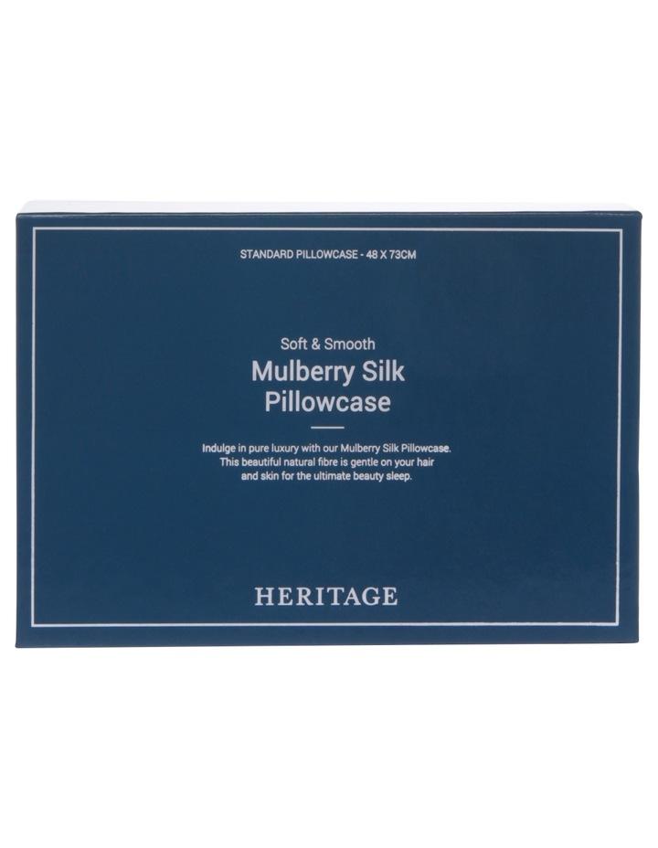 Silk Pillowcase in Silver image 3