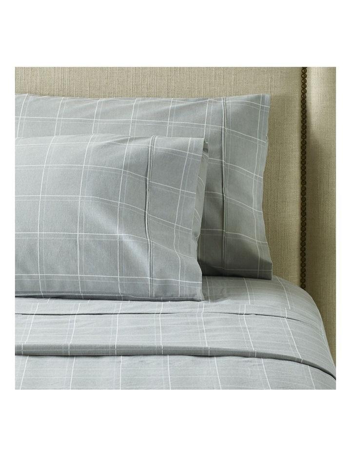 Sophie Flannelette Turkish Cotton Sheet Set in White/Grey image 2