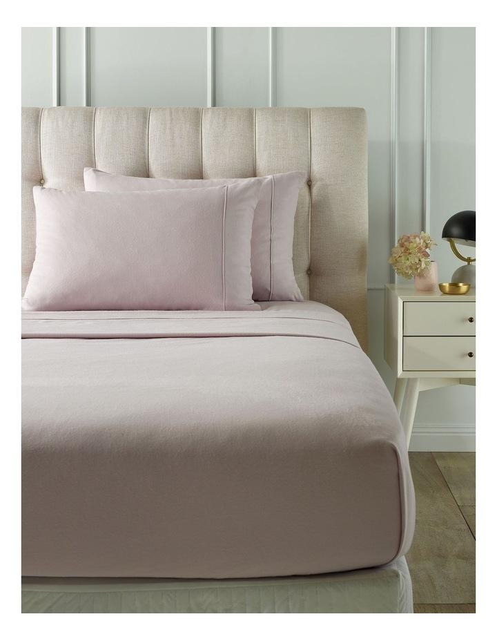 Plain Dye Flannelette Turkish Cotton Sheet Set in Pink image 1