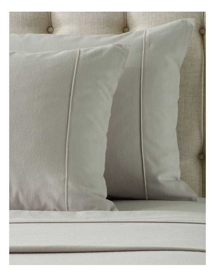 Plain Dye Flannelette Turkish Cotton Sheet Set in Natural image 2