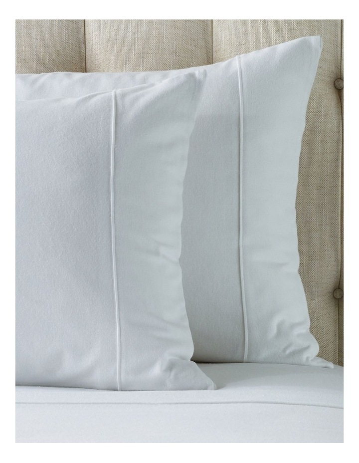 Plain Dye Flannelette Turkish Cotton Fitted Sheet in White image 2