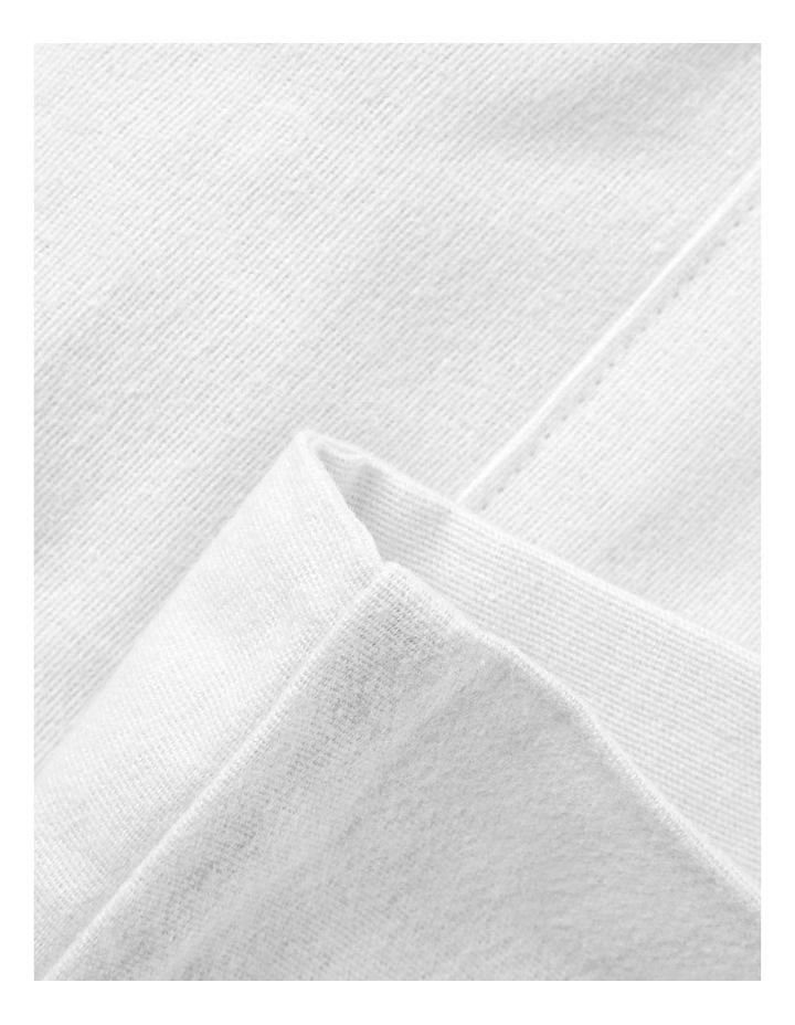Turkish Plain Dye Flannelette Sheeting in White image 3