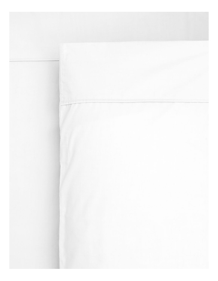 1000TC Finest Cotton Sateen Super King Size Sheet in White image 1