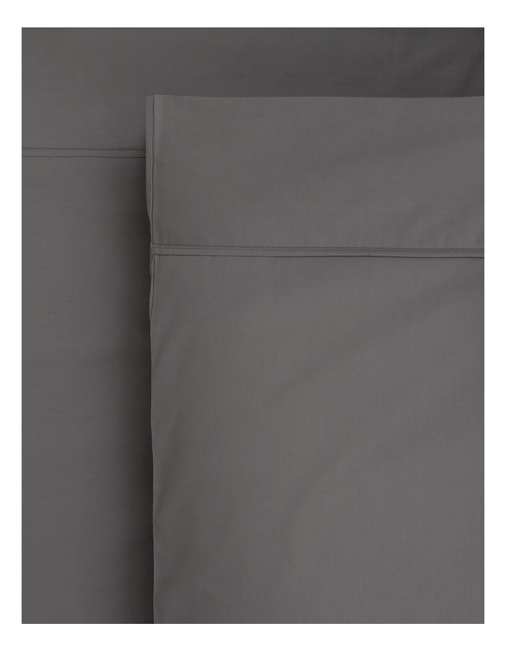 1000TC Finest Cotton Sateen Super King Size Sheet in Charcoal image 1