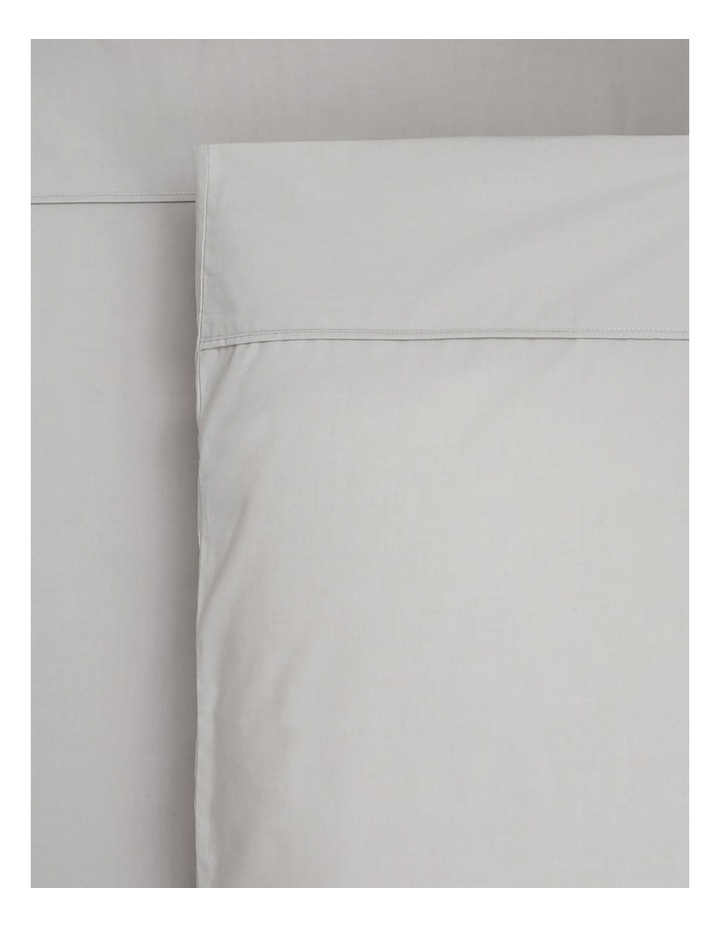 1000TC Finest Cotton Sateen Super King Size Sheet in Silver image 1