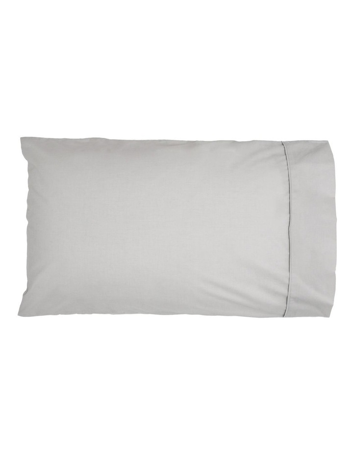 1000TC Finest Cotton Sateen Super King Size Sheet in Silver image 2