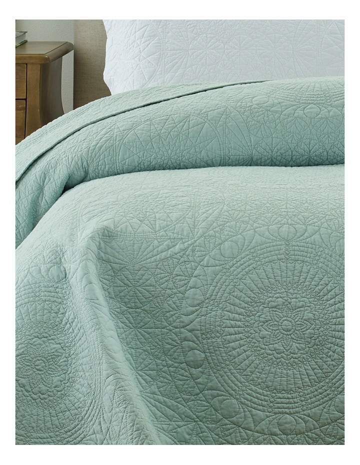 Isabelle Coverlet in Green image 2