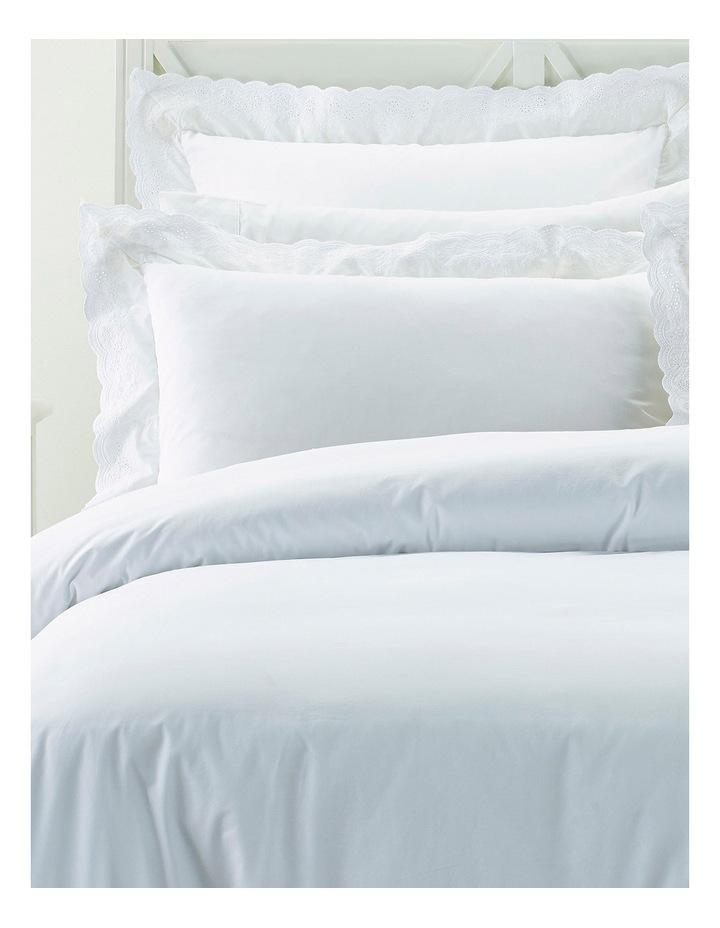 Vivant Broderie Quilt Cover Set in White image 2