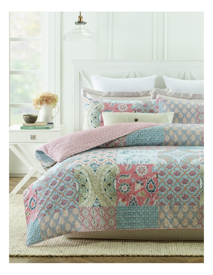 Eze Quilted Cotton Quilt Cover Set image 1