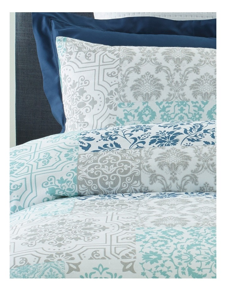 Carcasonne Printed Pique Quilt Cover Set in Blues image 2