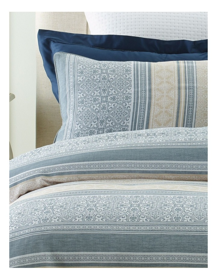 Catania Jacquard Quilt Cover Set in White image 2