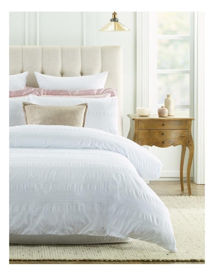 Montpellier White Seeksucker Quilt Cover Set in White image 1