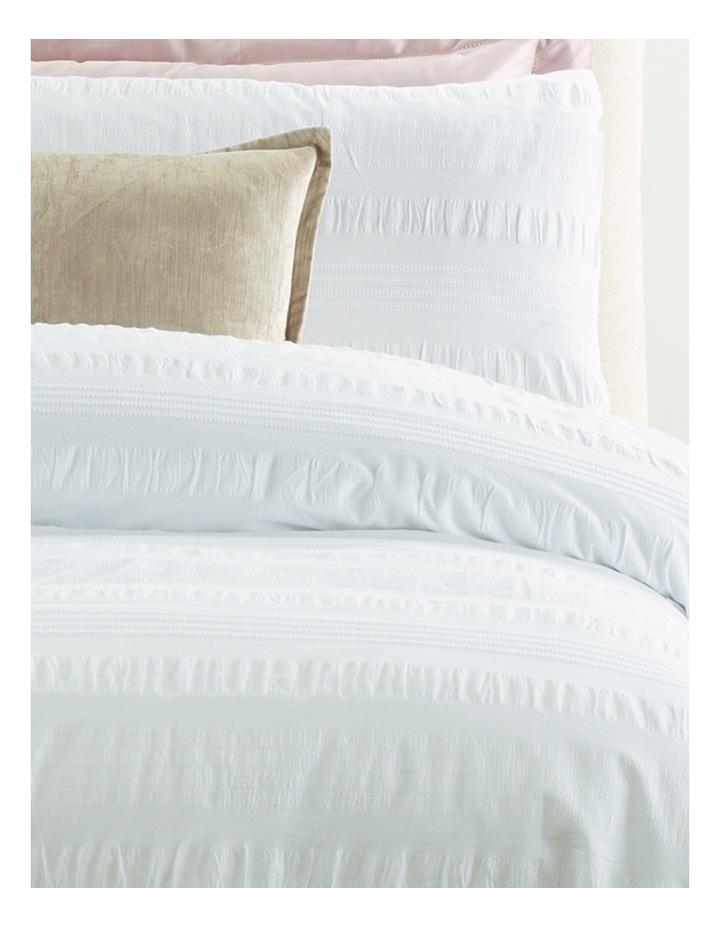 Montpellier White Seeksucker Quilt Cover Set in White image 2