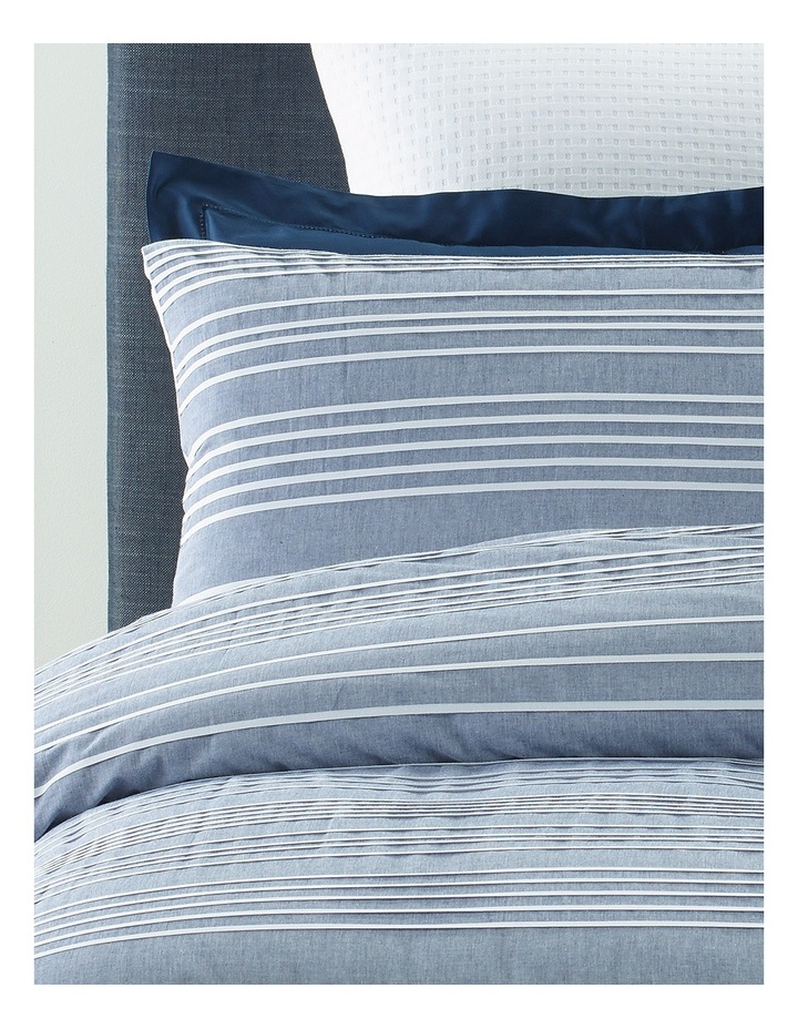 Rochefort Yarn Dyed Stripe Quilt Cover Set in Blue/White image 2