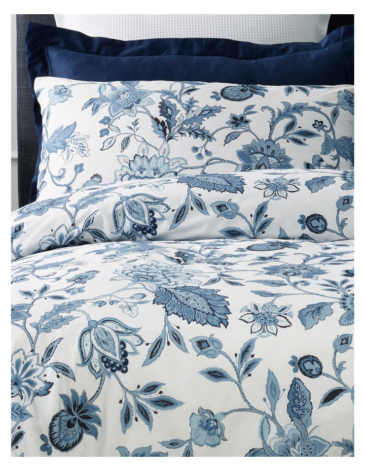 Vienna Cotton Quilt Cover Set in Blue image 2